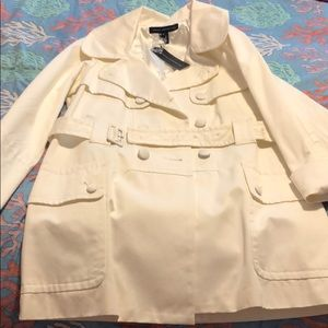 French Connection Trench Coat Size 10